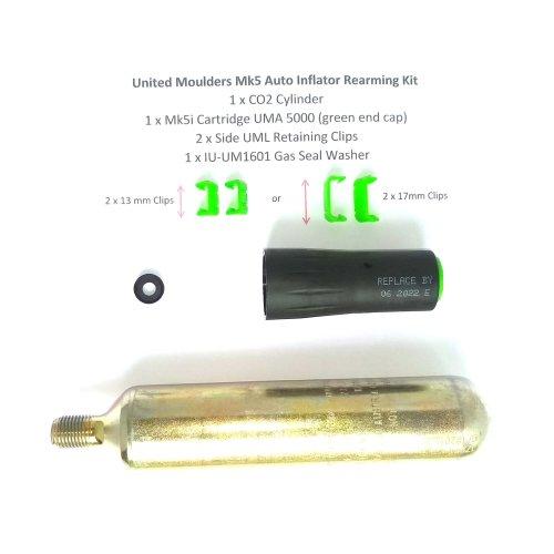 Lifejacket Rearming Kit  UML Mk5 Inflator  60g CO2