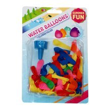 Water Balloons With Filler - Summer Fun Party 75 Coloured x Bombs Fight Throw -  water balloons summer fun party 75 coloured x bombs fight throw shot