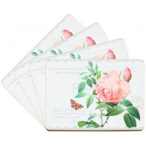 Redoute Rose Placemats (Set of 4)