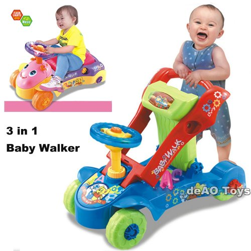 deAO 3 IN1 Baby Walker / Ride-on Car / Shape Sorter