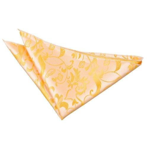 Gold Floral Pocket Square