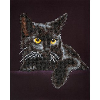 Needleart World DD5001 Diamond Dotz Diamond Embroidery Facet Art Kit - Midnight Cat