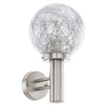 EGLO Outdoor Wall Light Nisia 1 Silver 60 W 93366