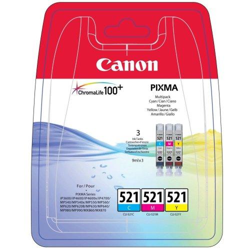 Canon Original 1700288 - CLI-521 Multipack (cyan, Magenta, Yellow)