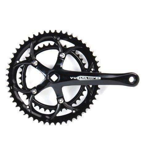 Vuelta Corsa Pro 53S/39S SQ 130/BCD Crank Set, 170mm, Black