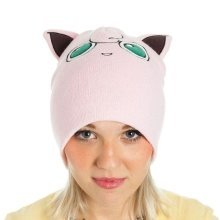 Pokemon Unisex Jigglypuff with Ears Cuffless Beanie One Size - Pink