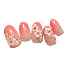 2 Box Sakura Pattern Artificial False Nails Tips Wedding Fake Nails Decoration
