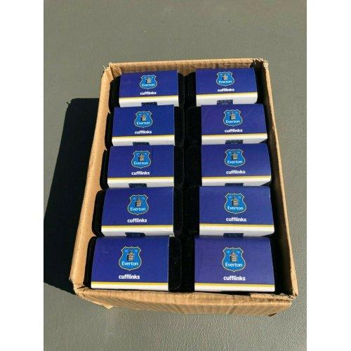 20 x Everton Cufflinks Sets - Gift Boxed - Football Wholesale/Job Lot