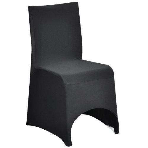 TRIXES Black Spandex Lycra Chair Cover