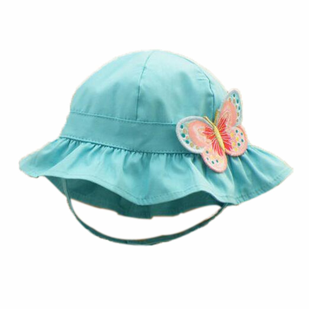 8df25f4e714 Summer Baby Girl Caps Cotton Sun Hat For 2-3 Years Baby Blue on OnBuy