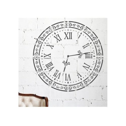 ALICE CLOCK Wall Stencil for Painting