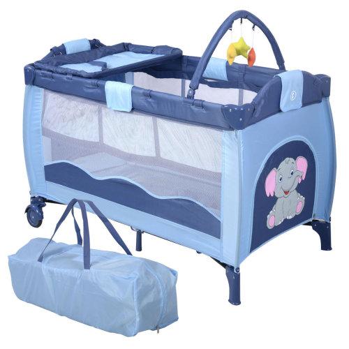 Baby Crib Foldable Playpen Portable