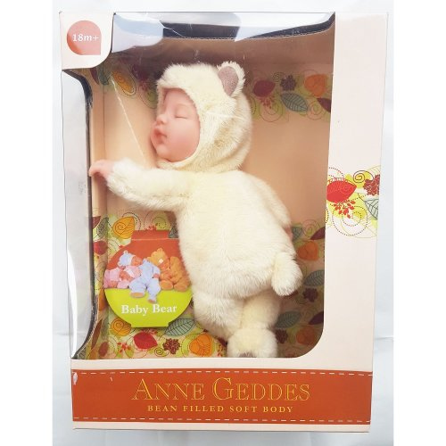 Anne Geddes Baby Bear Cream Soft Toy