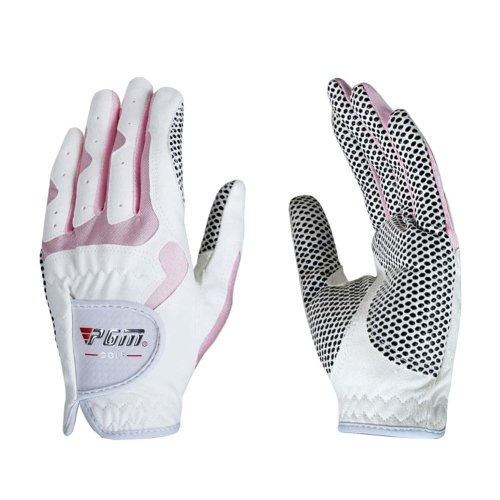Soft and Comfortable Children Golf Gloves Fibre Cloth PINK Both Hand 17#
