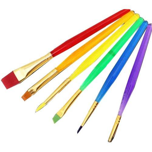 Children Brush Brush Painting Brush Washable Paintbrush Sponge Brush 6pcs