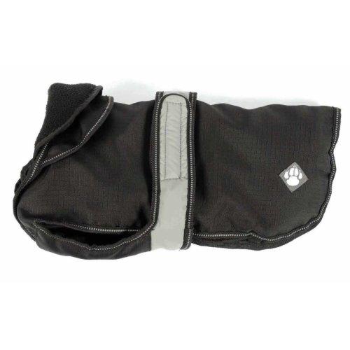 2 In 1 Black Dog Coat 55cm (22'')