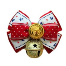 England Style Pet Collar Tie Adjustable Bowknot Cat Dog Collars with Bell-C12