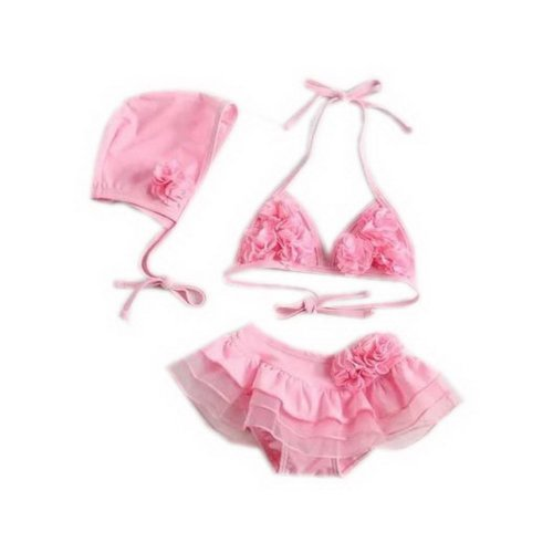 Cute Baby Girls Two Pieces Pink Top & Bottom, 1-2 Years Old