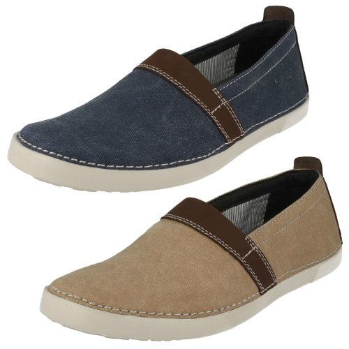 Mens Clarks Casual Slip On Shoes Neelix Free - G Fit