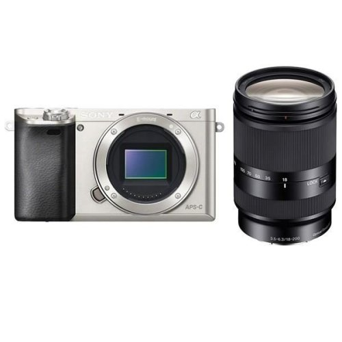 SONY A6000 Silver + SEL 18-135MM F3.5-5.6 OSS (White Box)