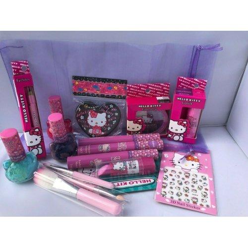Hello Kitty Make Up Set - Nail and Make Up Gift Set in Organza Bag