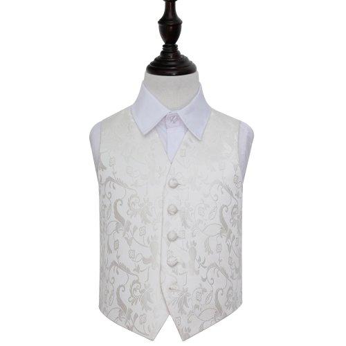 Ivory Floral Wedding Waistcoat for Boys 30'