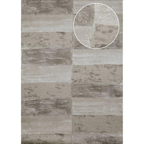Atlas ICO-5072-2 Stone tile wallpaper shimmering stone-grey 7.035 sqm