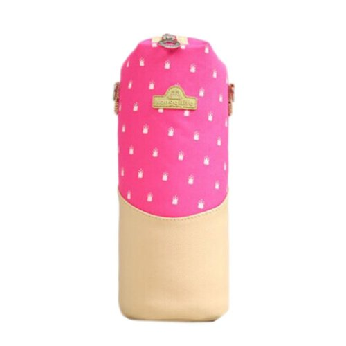Lovely Baby Bottle Messenger Bag/Keep Warm (26*9CM),Pink