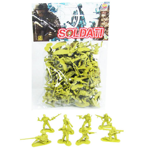 100 Pcs Toy Soldiers Gifts /Cars/Trucks /Tractors/Toy Guns Models -Yellow  1:60
