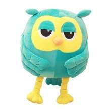 Travel Pillow Warm Hands for Office Blue Owl Design