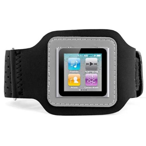 DIGIFLEX Black Sport Armband Case for Apple iPod Nano 6th Gen
