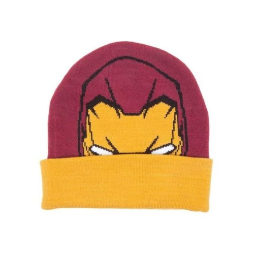 Marvel Captain America Iron Man Face Beanie Hat One Size (KC251005IRN)