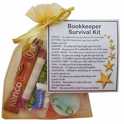 Bookkeeper Survival Kit - Novelty gift for Bookkeeper Secret Santa Gift, Accountant Gift