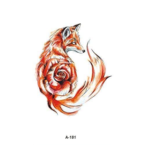 be8462aa56b32 WYUEN 5 Sheets Fox Temporary Tattoo Waterproof Fake Tattoo Sticker For Women  Men Body Art 9.8X6cm FA-181 on OnBuy