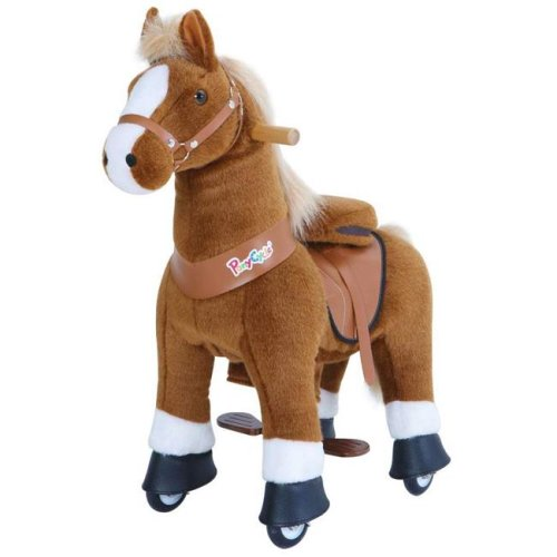 PonyCycle U324 Ride-On Brown Horse with White Hoof - Small