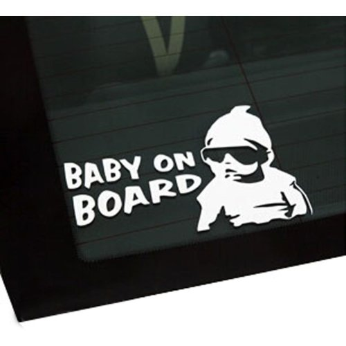 Baby On Board Car Decal Stickers Personality Funny Car Decal Reflective WHITE