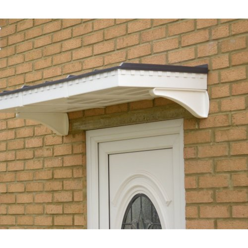 White Flat Roof Georgian (1360) Styled Door Canopy