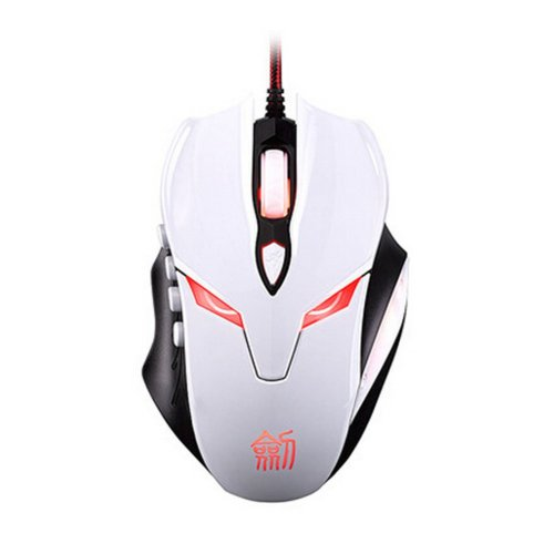 WHITE E-sports Game Self-defined Mouse Professional Luminous Wired Mouse