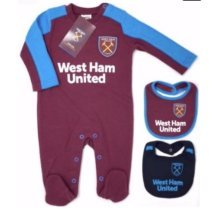 West Ham United Baby Sleepsuit - 2017/18 Season (6-9 Months) - 2018 Babies Pram -  west ham united 2018 babies pram sleep suit baby grow play