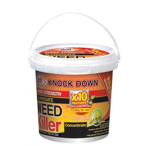 Doff Super Strength Glyphosate Weedkiller Concentrate - Knockdown Weed Killer - Doff Knockdown Super Strength Glyphosate Weed Killer 10 Sachet Garden