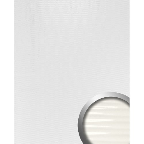 WallFace 15764 MOTION TWO Wall panel wallcovering 3D wave deco white | 2.60 sqm