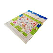 Kids Childrens Rug Play Mat in Twin Houses Design 134 x 180cm