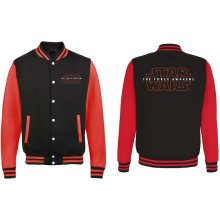 XXL Adult's Star Wars T-shirt - Officially Licensed Episode Vii Black Red -  officially licensed star wars episode vii black red varsity jacket