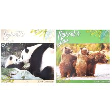 2019 Parents Love Square Wall Calendar 16 Months Cute Wild Animals Babies Baby Home Office
