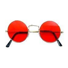 Orange Lennon Round Sunglasses - Glasses Fancy Dress 70s Hippy John 60s Hippie -  lennon glasses fancy dress 70s hippy round john 60s orange hippie