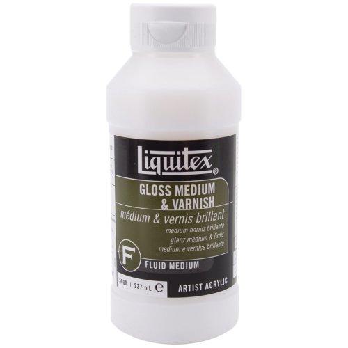 Liquitex Gloss Acrylic Fluid Medium & Varnish-8oz