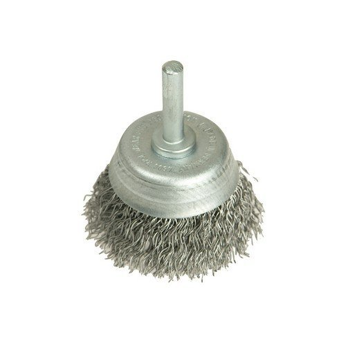 Lessmann 430.123.07 DIY Cup Brush with Shank 50mm x 0.35 Steel Wire