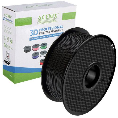 ACENIX® Black PETG 3D Printer Filament 1.75mm 1KG Spool Filament for 3D Printing