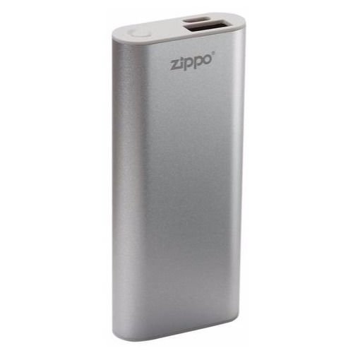 Zippo Heatbank 3 Rechargeable Lithium Iron Hand Warmer with Power Pack Silver