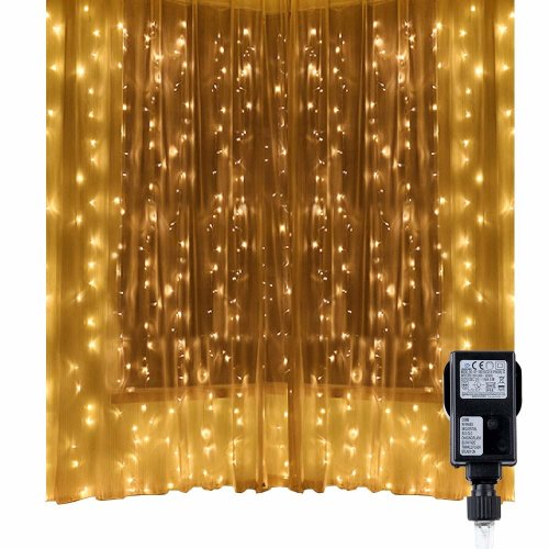 Christmas Light Curtains.Led String Lights Curtain Lights Speclux 300 Leds 8 Modes Indoor Outdoor Window Curtains String Lights Warm White Christmas Curtain Lights For